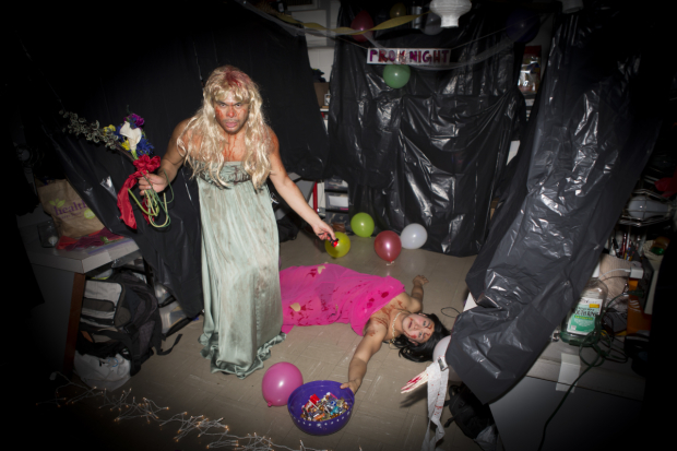 <p>Bobby Pestka and Paul HeeSang Miller go full-out with their Halloween decorating.</p><br />(&copy&#x3B; Jeremy Daniel)