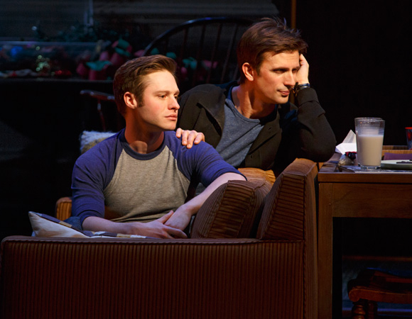 <p>Bobby Steggert and Frederick Weller play married couple Will Ogden and Cal Porter in <em>Mothers and Sons</em>.</p><br />(© Joan Marcus)