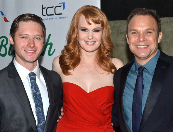 <p>Bobby Steggert, Kate Baldwin, and Norbert Leo Butz are the evening&#39&#x3B;s attractive stars.</p><br />(© David Gordon)