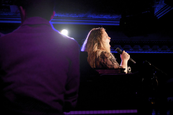 <p>Bonnie Milligan blows the roof off of 54 Below.</p><br />(© Nessie Nankivell)