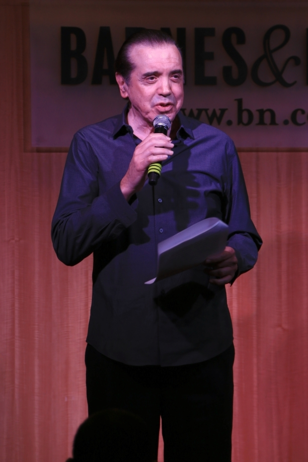<p>Book writer Chazz Palminteri made remarks at the event.</p><br />(© Tricia Baron)