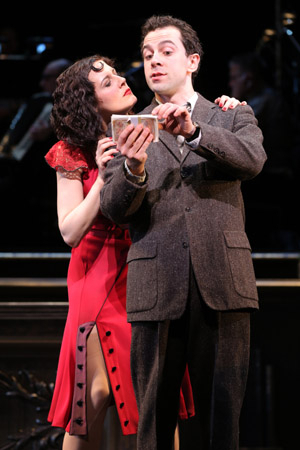 <p>Bowles and McClure enjoy an intimate scene.</p><br />(© Joan Marcus)