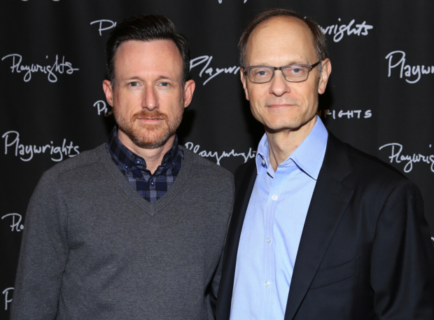 <p>Brad Heberlee and David Hyde Pierce head the cast of <em>A Life</em> at Playwrights Horizons.</p><br />(© Tricia Baron)