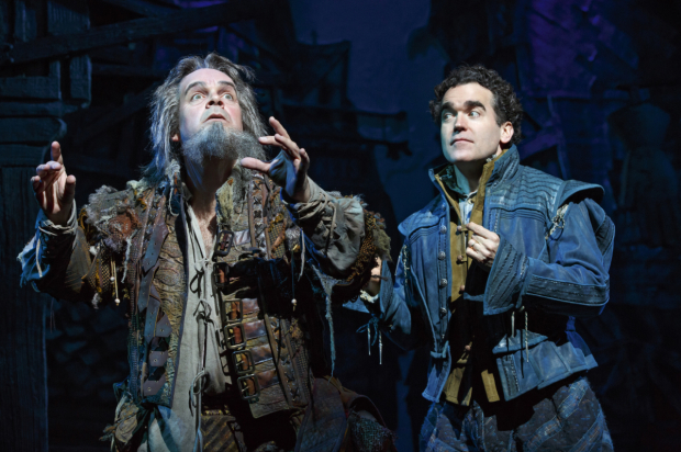 <p>Brad Oscar and Brian d&#39&#x3B;Arcy James in <em>Something Rotten!</em> at Broadway&#39&#x3B;s St. James Theatre.</p><br />(© Joan Marcus)