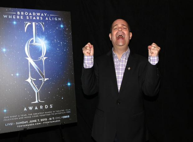 <p>Brad Oscar, Best Featured Actor in a Musical nominee for <em>Something Rotten!</em></p><br />(© David Gordon)