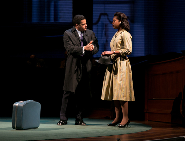 <p>Brandon J. Dirden shares a scene with Roslyn Ruff, who plays Coretta Scott King.</p><br />(© Evgenia Eliseeva)