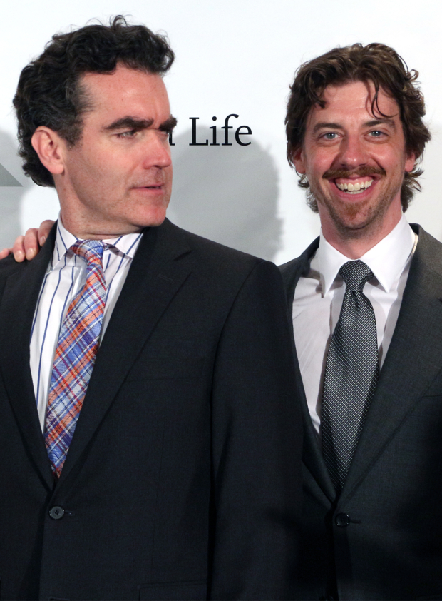 <p>Brian d&#39&#x3B;Arcy James and Christian Borle — <em>Something Rotten!</em></p><br />(© David Gordon)