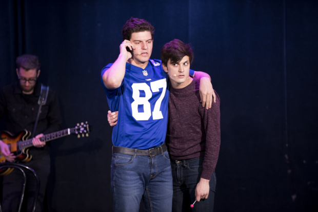 <p>Brian Muller and Alex Boniello as Greg and Blaine in <em>Cruel Intentions: The Musical</em>.</p><br />(© Jenny Anderson)