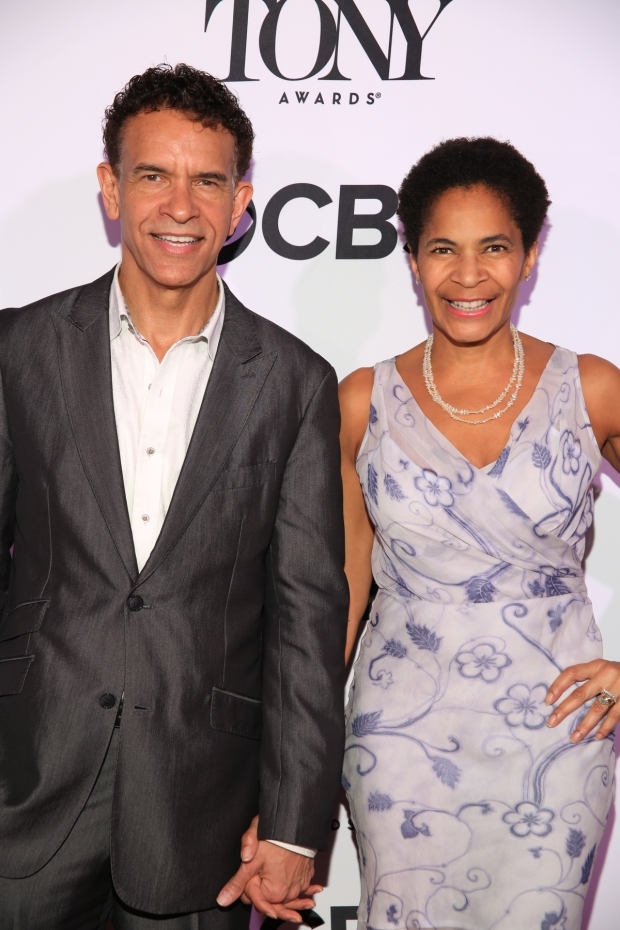 <p>Brian Stokes Mitchell, Isabelle Stevenson Award winner, with his wife, Allison Tucker.</p><br />(© Tricia Baron)