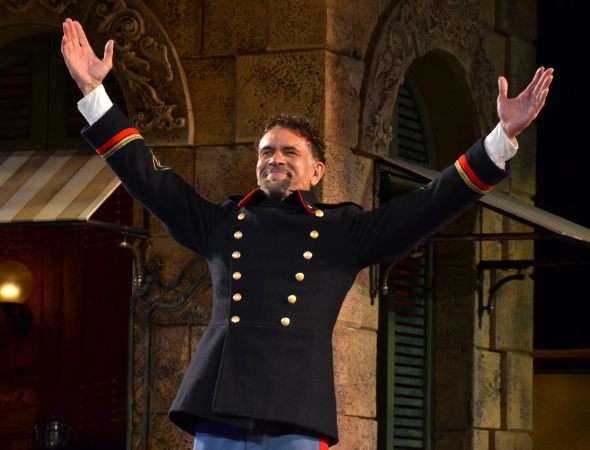 <p>Brian Stokes Mitchell takes his curtain call.</p><br />(© David Gordon)