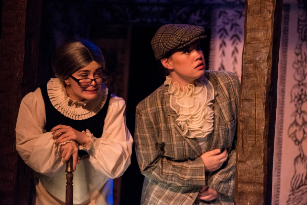 <p>Brianna Hurley as Ursula and Emily Madan disguised as Sebastian in TP&amp&#x3B;co&#39&#x3B;s <em>The Two Gentlemen of Verona</em>.</p><br />(© Kelly Marsh)