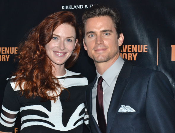 <p>Bridget Regan and Matt Bomer smile for the cameras after the show.</p><br />(© David Gordon)
