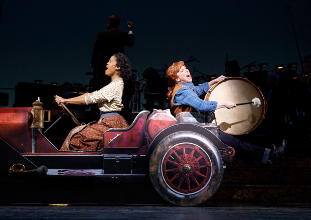<p>Britney Coleman and Carolee Carmello have a blast in a scene from <em>Hey, Look Me Over!</em></p><br />(© Joan Marcus)