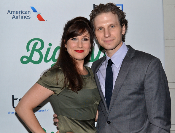 <p>Broadway couple Stephanie J. Block and Sebastian Arcelus take time out of their busy schedules for date night.</p><br />(© David Gordon)