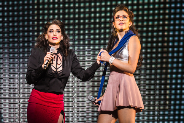 <p>Broadway favorites Lesli Margherita and Ana Villafañe made a special appearance.</p><br />(© Evan Zimmerman)