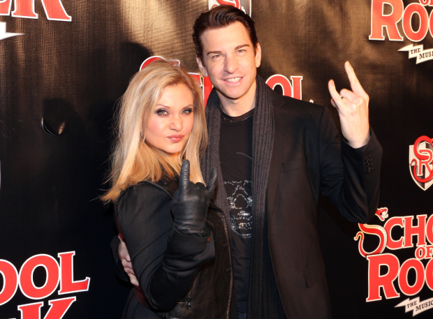 <p>Broadway favorites Orfeh and Andy Karl are ready to rock out at the Winter Garden Theatre.</p><br />(© David Gordon)