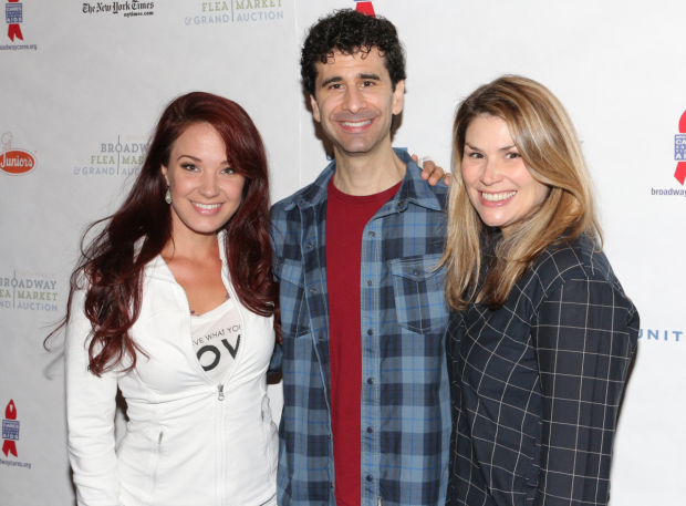 <p>Broadway favorites Sierra Boggess, John Cariani, and Heidi Blickenstaff pose for photos.</p><br />(&copy&#x3B; David Gordon)