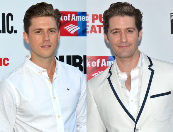 <p>Broadway hunks Aaron Tveit and Matthew Morrison were sporting white for the evening.</p><br />(© David Gordon)