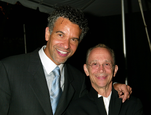 <p>Broadway leading men Brian Stokes Mitchell and Joel Grey pose for photos together.</p><br />(© Joseph Marzullo)