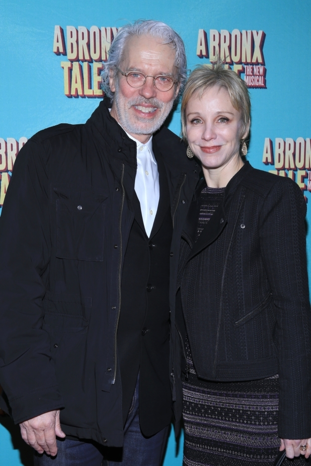 <p>Broadway veterans Terrence Mann and Charlotte d&#39&#x3B;Amboise enjoy a night at the theater.</p><br />(© Tricia Baron)