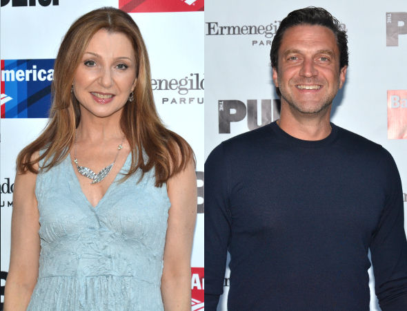 <p>Broadway vets Donna Murphy and Raúl Esparza get ready for <em>King Lear</em>.</p><br />(© David Gordon)