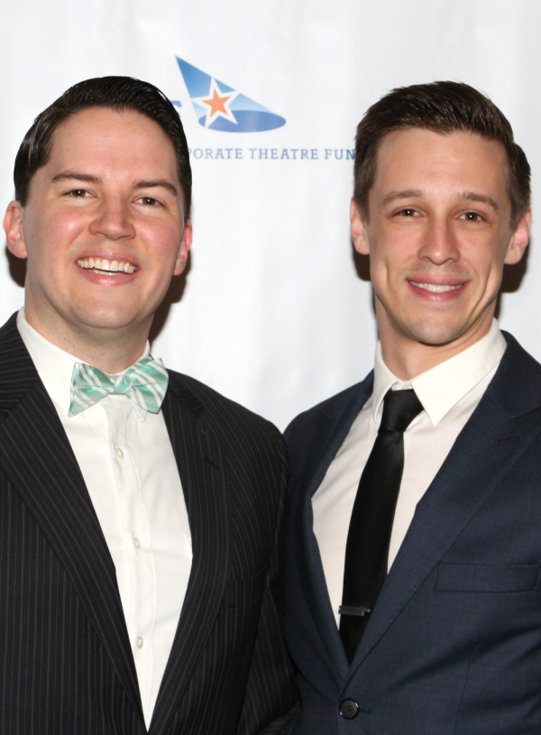 <p>Broadway vets Kevin Duda and Jason Michael Snow penned the evening&#39&#x3B;s opening number.</p><br />(© David Gordon)