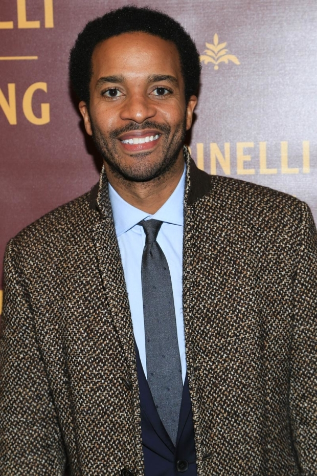 <p>Broadway&#39&#x3B;s André Holland stopped for a photo.</p><br />(© Tricia Baron)