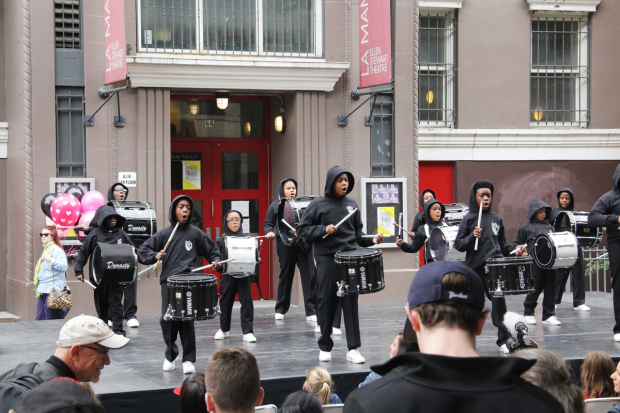 <p>Brooklyn United drum corps performed.</p><br />(© Carolina Restrepo)