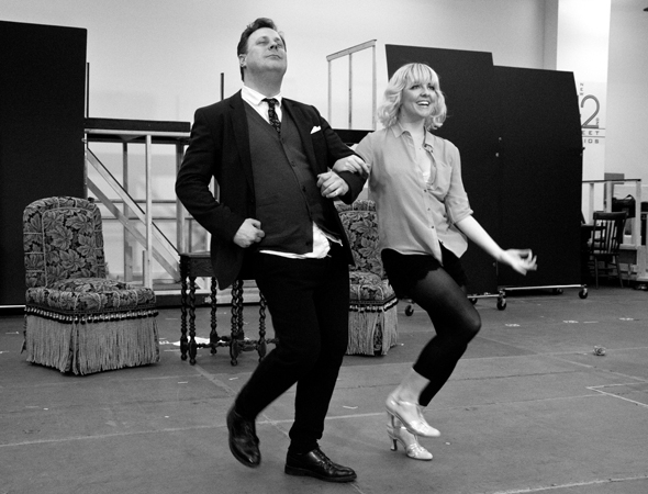 <p>Brooks Ashmanskas (as compulsive eater Warner Purcell) and Heléne Yorke share a duet on the classic Cole Porter tune &quot&#x3B;Let&#39&#x3B;s Misbehave.&quot&#x3B;</p><br />(© David Gordon)