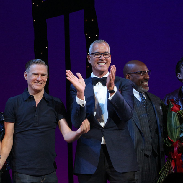 <p>Bryan Adams and Jerry Mitchell take a bow.</p><br />(© David Gordon)