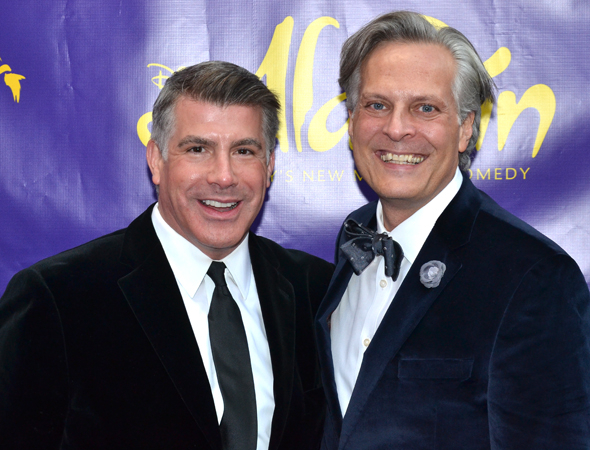 <p>Bryan Batt and Tom Cianfichi get ready for a new Broadway musical.</p><br />(© David Gordon)