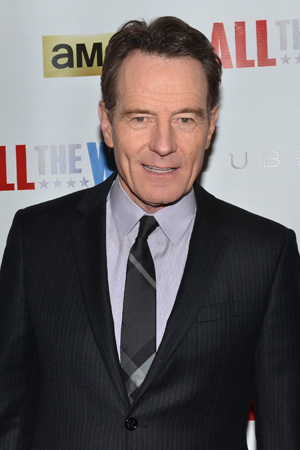 <p>Bryan Cranston leads the company as President Lyndon Baines Johnson.</p><br />(© David Gordon)