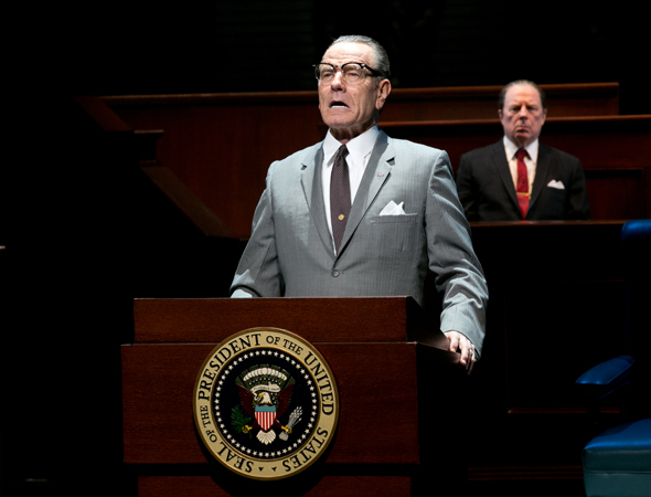 <p>Bryan Cranston makes his Broadway debut as President Lyndon Baines Johnson.</p><br />(© Evgenia Eliseeva)