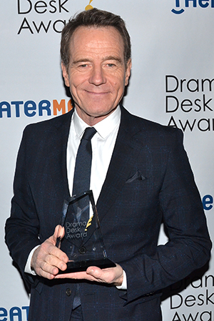 <p>Bryan Cranston — Outstanding Actor in a Play winner for <em>All the Way</em>.</p><br />(© David Gordon)