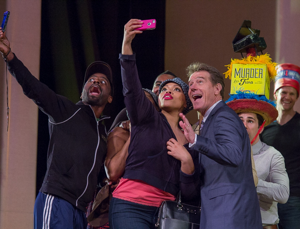 <p>Bryan Cranston takes a selfie with the cast of <em>After Midnight</em>.</p><br />(© David Gordon)