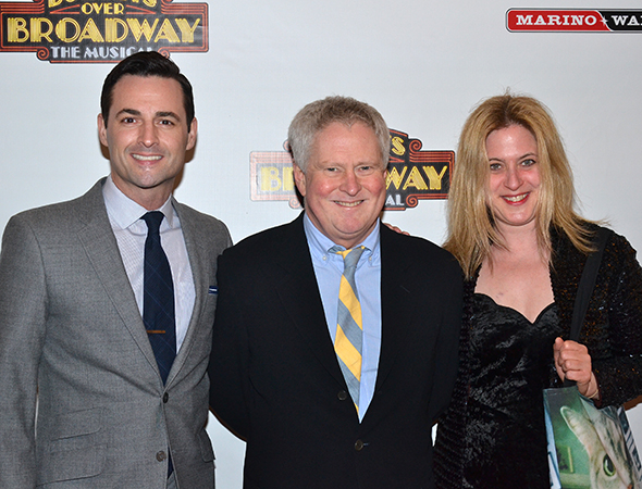 <p><em>Bullets Over Broadway</em> music supervisor Glen Kelly is flanked by Broadway vets Max von Essen and Lisa Lambert.</p><br />(© David Gordon)