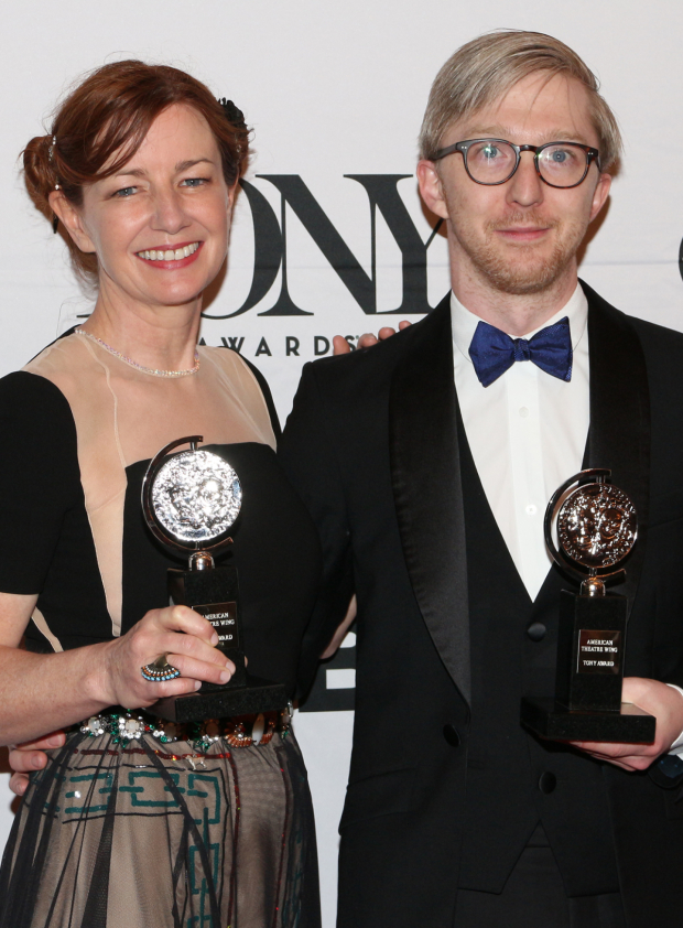<p>Bunny Christie and Finn Ross —  Best Scenic Design of a Play, <em>The Curious Incident of the Dog in the Night-Time</em>.</p><br />(© David Gordon)