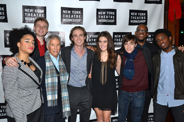 <p>Burt Bacharach celebrates the show's opening night with Riabko and the full cast.</p><br />(© David Gordon)
