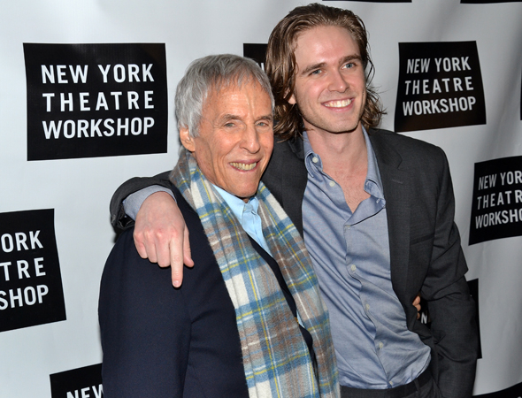 <p>Burt Bacharach congratulates his new protégé, Kyle Riabko.</p><br />(© David Gordon)
