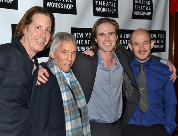 <p>Burt Bacharach joins coconceiver David Lane Seltzer, Riabko, and director Steven Hoggett for an opening-night photo.</p><br />(© David Gordon)