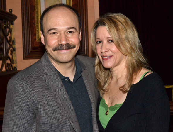 <p><em>Cabaret</em> stars Danny Burstein and Linda Emond hosted the ceremony.</p><br />(© David Gordon)