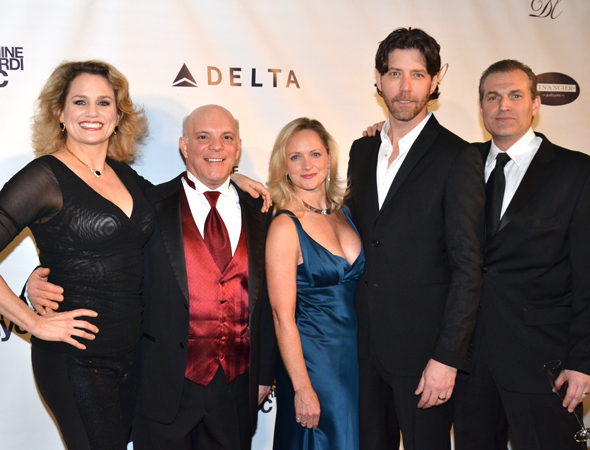 <p>Cady Huffman, Eddie Korbich, Paige Price, James Barbour, and Marc Kudisch were among the evening&#39&#x3B;s performers.</p><br />(© David Gordon)