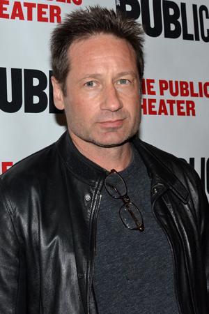 <p><em>Californication</em> star David Duchovny was also on hand for the show.</p><br />(© David Gordon)