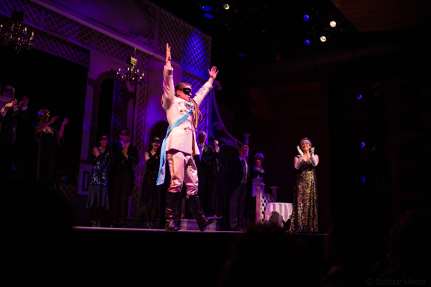 <p>Cameron Johnson and Rachel Policar take the stage in <em>The Golden Bride</em> at The Museum of Jewish Heritage&#39&#x3B;s Edmond J. Safra Hall.</p><br />(© Justin Scholar)