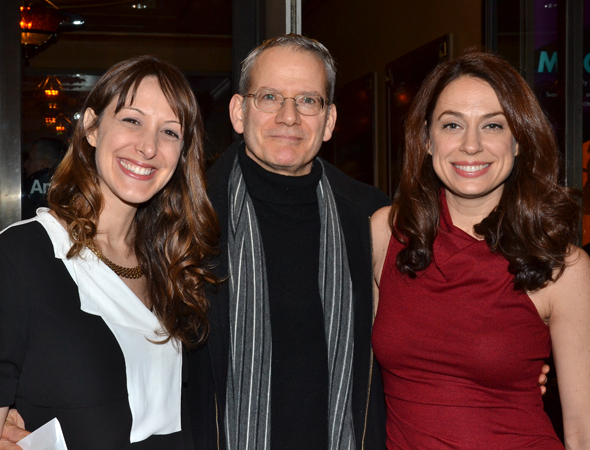 <p>Campbell Scott is flanked by two lovely ladies: on the left, actress Natalie Gold (whose husband, Michael Warner, appears in <em>Machinal</em>) and Scott&#39&#x3B;s wife, Kathleen McElfresh.</p><br />(© David Gordon)