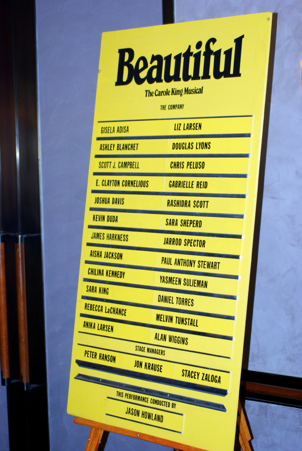 <p>Can you spot Chilina Kennedy&#39&#x3B;s name? Look for it at the Stephen Sondheim Theatre.</p><br />(© Kristin Goehring)