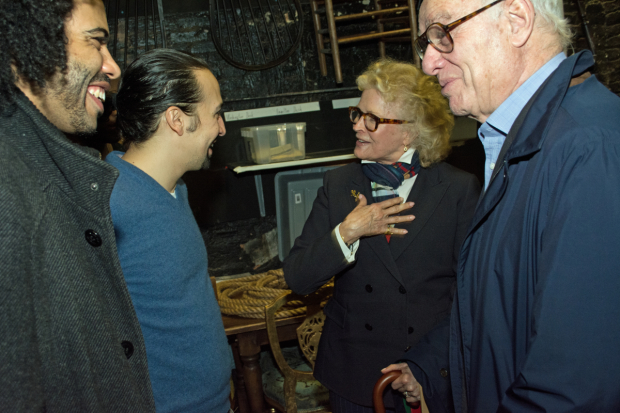 <p>Candice Bergen and Marshall Rose have a conversation with Lin-Manuel Miranda and Daveed Diggs.</p><br />(© Kristin Goehring)