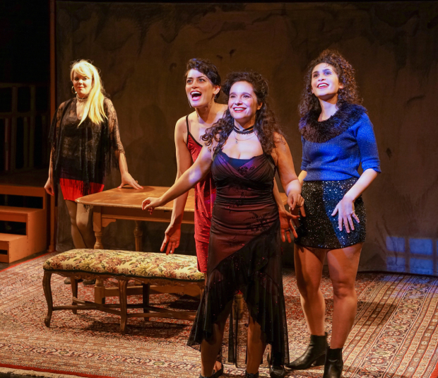 <p>Caraid O&#39&#x3B;Brien, Melissa Weisz, Rachel Botchan, and Mira Kessler play prostitutes in <em>God of Vengeance</em>.</p><br />(© Ronald L. Glassman)