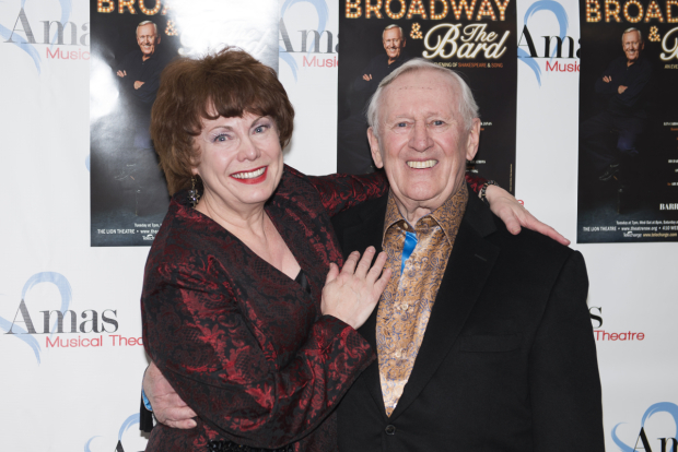 <p>Cariou is congratulated by his wife, Heather Summerhayes Cariou.</p><br />(© Allison Stock)