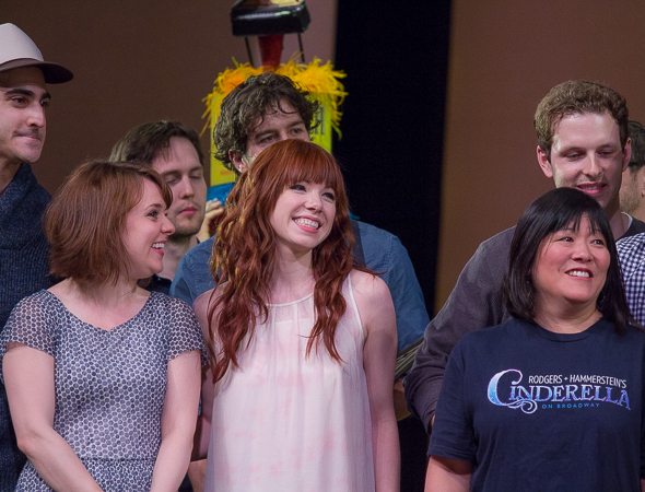 <p>Carly Rae Jepsen joins the cast of <em>Cinderella</em> to collect an award.</p><br />(© David Gordon)